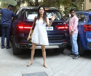 Actress Janhvi Kapoor spotted at Maddock films office in santacruz