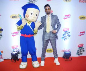 "Actor Ayushman Khurana at Nickelodeon ""The Kids Choice Awards 2019 at film city goregaon."