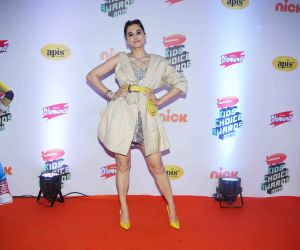 "Actress Tapsee Panu at Nickelodeon ""The Kids Choice Awards 2019 at film city goregaon."