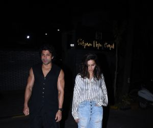 Farhan Akhtar and  Shibani Dandekar Spotted at bandra