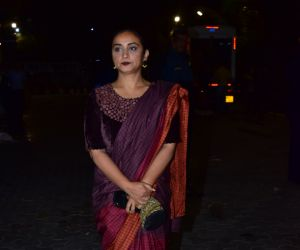 Actres Dia Mirza during the screening of film Thappad at pvr icon in andheri
