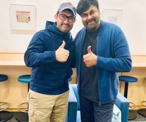 Aamir Khan and Chiranjeevi meeting