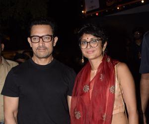 Aamir Khan & Kiran Rao at prithvi theater in juhu