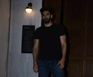 Actor Aditya Roy Kapoo seen at ministry of crabs in bandra