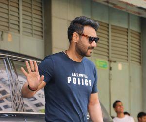 Actor Ajay Devgan at the trailer launch of film Sooryavanshi