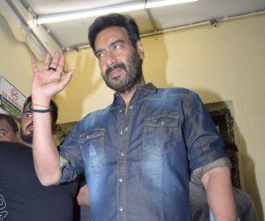 Actor Ajay Devgan Screening of film Tanhaji at pvr juhu.
