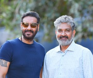 Actor  Ajay Devgn  with SS Rajamouli's RRR.