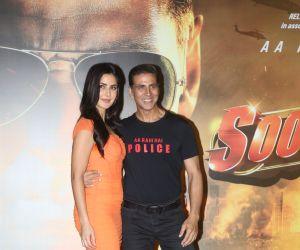 Actor Akshay kumar and katrina kaif at the trailer launch of film Sooryavanshi
