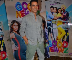 Actor Akshay Kumar at the media interactions for film Good Newwz.
