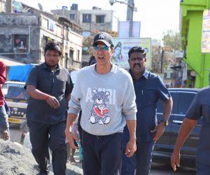 Actor Akshay Kumar seen at Versova