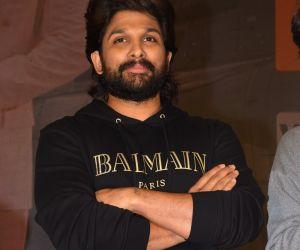Actor Allu Arjun at Ala Vailkunthapurramuloo Movie Thanks Meet