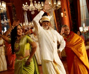 Actor Amitabh and Jaya Bachchan at Kalyan Jewellers advertisement shoot in Mumbai