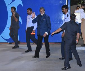 Actor Amitabh Bachchan attend the annual day function of Dhirubhai Ambani International.