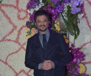 Actor Anil Kapoor in Sooraj Barjatya's son Devansh wedding reception at Marriott Juhu.