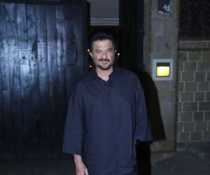 Actor Anil Kapoor in the Starcast of Malang at his house in juhu.