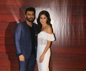 Actor Arjun Kapoor and Katrina Kaif  at Javed Akhtar's Birthday.