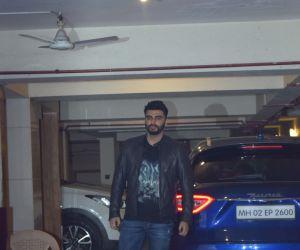 Actor Arjun Kapoor at  Kareena Kapoor's Christmas party.