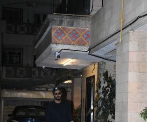 Actor Arjun kapoor at  Malaika Arora's mother's birthday party