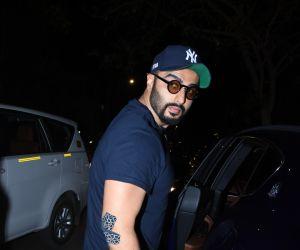 Actor Arjun Kapoor seen at Farmer's Cafe in bandra