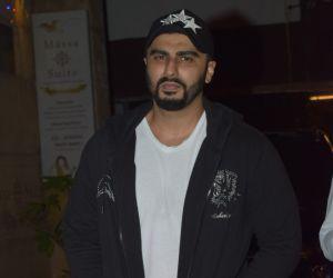 Actor Arjun Kapoor spotted gym in juhu.