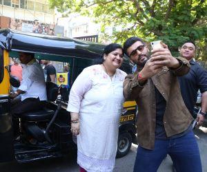 Actor Arjun Kapoor take a selfie at andheri