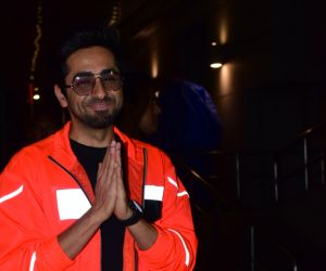 Actor Ayushmann Khurrana poses for a photo during his film pronotion event