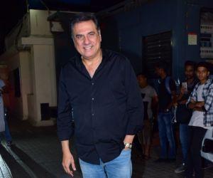 Actor Boman irani at screening of Angrezi Medium in pvr juhu