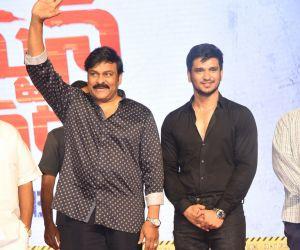 Actor Chiranjeevi  and Nikhil Siddharth in   Arjun Suravaram Movie Pre-Release Event.