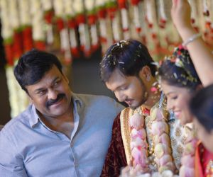 Actor Chiranjeevi in Prabhu Daughter Wedding Function.