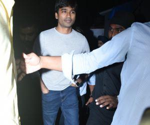 Actor Dhanush spotted at Bastian in bandra