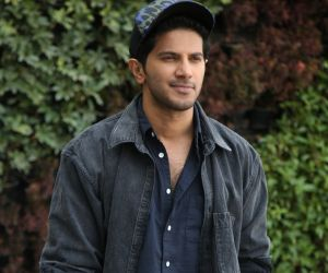 Actor Dulquer Salmaan during the telugu movie Interview