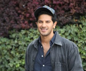 Actor Dulquer Salmaan during the photo session