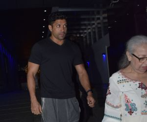 Actor Farhan Akhtar spotted at hakkasan bandra.