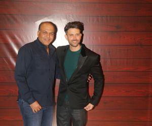 Actor Hrithik Roshan  at Javed Akhtar's Birthday.