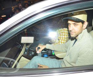 Actor Hritik Roshan at Sanjay Khan's birthday party.