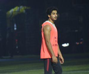 Actor Ishaan Khattar Playing football at juhu.