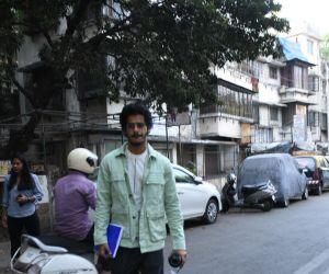 Actor Ishaan Khattar walking at bandra street