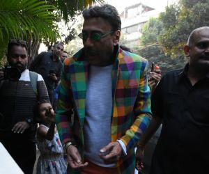 Actor Jacjie Shroff attend Kim Sharma's birthday party at olive bandra.