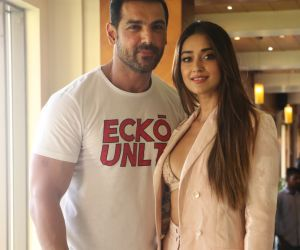 Actor John Abraham and Ileana D Cruz Pagalpanti movie promotion.