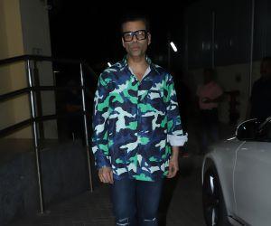 Actor Karan Johar at Screening of film Bhoot the Haunted Ship