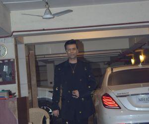 Actor Karan Johar in Kareena Kapoor's Christmas party at bandra