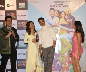 Actor Karan Johar Speak inTrailer launch of New Film Good Newwz at Cinepolis