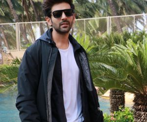 Actor Kartik Aaryan in Pati Patni Aur Woh Movie Promotion.