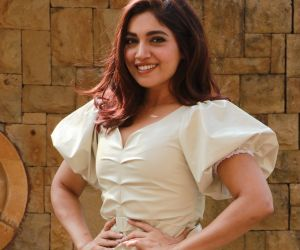 Actress Bhumi Pednekar in her Movie promotion of Pati Patni Aur Woh.