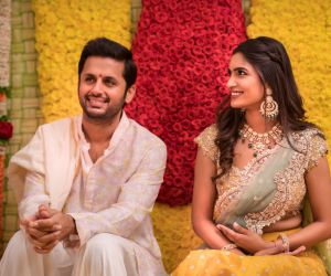 Actor  Nithiin wedding Engagement  Photo