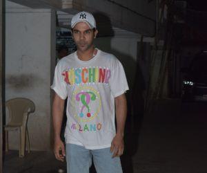 Actor Raj Kumar Rao seen at clinic juhu.