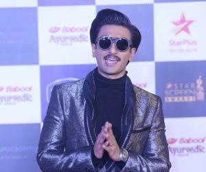 Actor Ranveer Singh in Star Screen Awards at BKC.