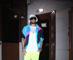 Actor Ranveer Singh came out from the studio after dubbing