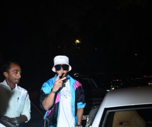 Actor Ranveer Singh spotted at dubbing studio in bandra