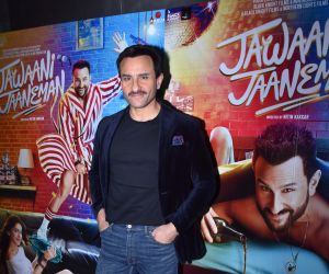 Actor Saif Ali Khan promoting his film Jawaani Jaaneman.